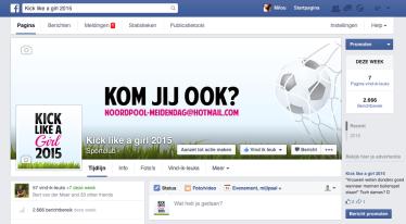 Facebook Kick like a girl