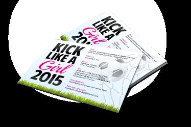 Poster Kick like a girl