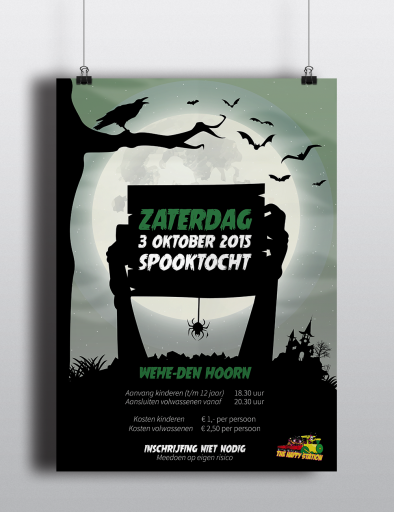 Poster Spooktocht Wehe