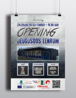Poster opening jeugdsoos Eenrum