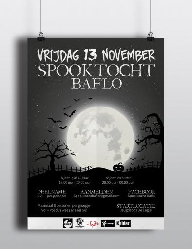 Poster spooktocht Baflo