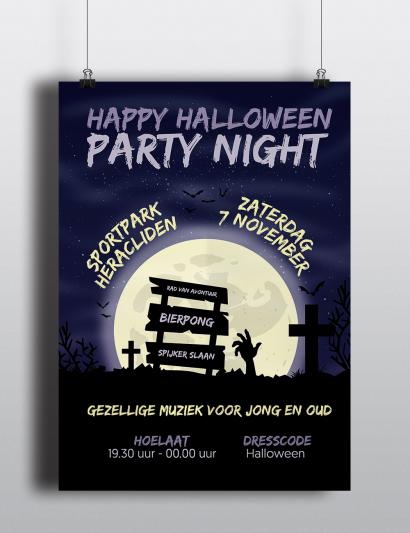 Poster Halloween Heracliden mockup