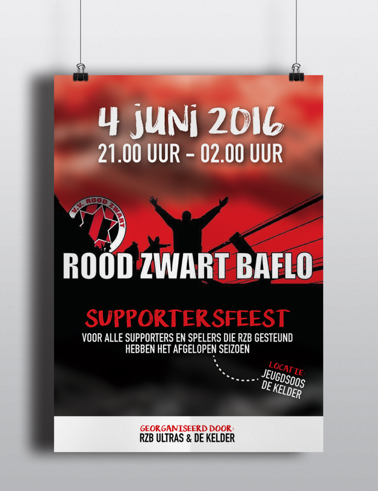 Poster Supportersfeest RZB